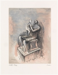 mother and child xx (from mother and child) by henry moore