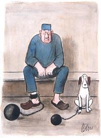 le prisonnier et son chien by roger tetsu