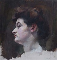head of a woman by pierre adolphe valette