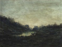 landscape with cranes by lloyd freeman