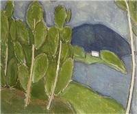 green landscape (+ blue hour, verso) by h. (einar reuter) ahtela