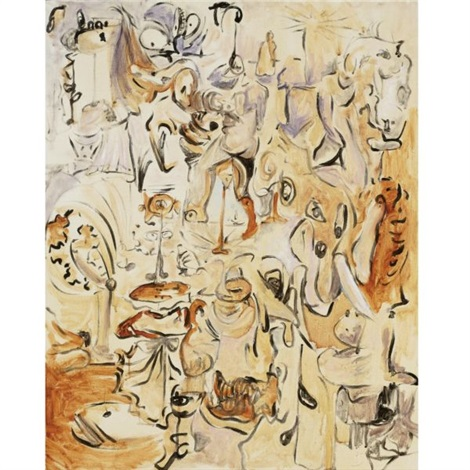 funny landscape by george condo
