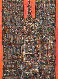 catedral en rojo by rené portocarrero
