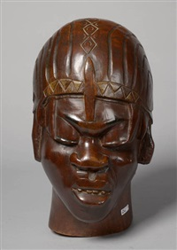 tête d'africain by charles alphonse combes