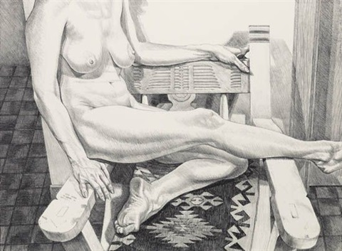 nude in new mexico by philip pearlstein