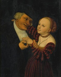 the ill-matched lovers by lucas cranach the younger