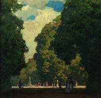 spätsommer im park von versailles by hermann göhler