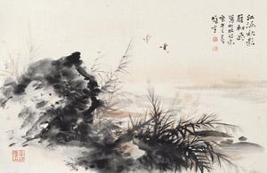 江涵秋影 landscape by li xiongcai