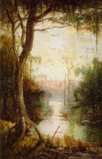 louisiana swamp scene by george ernest colby