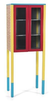 a red-and-yellow d'antibes cabinet by george j. sowden