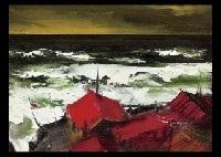stormy ocean by yotsuo kasai