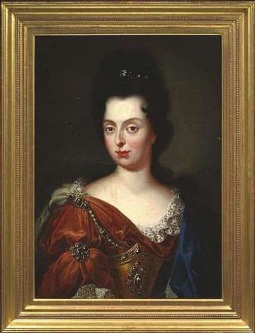 portrait der anna maria von medici prinzessin der toskana kurfürstin der pfalz by jan frans van douven