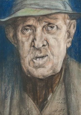 portrait of a man by austin osman spare