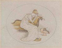 a weeping girl by kate greenaway