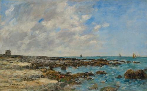 le croisic bord de mer by eugène boudin