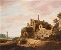 ruinlandskap med figurstaffage by pieter anthonisz van groenewegen