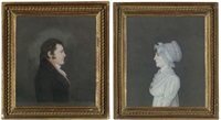 portrait of a lady (+ portrait of a gentleman; pair) by james sharples