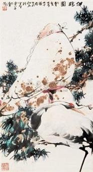 伴鹤图 (crane) by dai wei