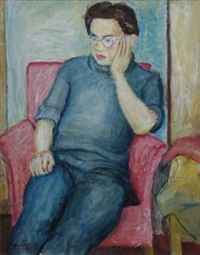 portrait of cedric gibbons by alan lowndes