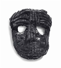 bronze wall mask 1 by thomas houseago