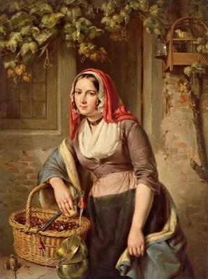 holländische kastanienverkäuferin by elisabeth alida van haanen