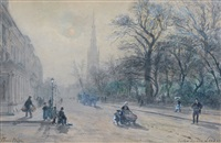 onslow square, london by pierre (henri théodore) tetar van elven