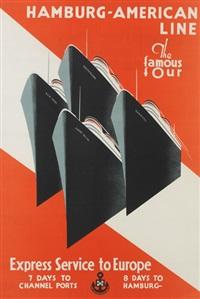 hamburg-american line/the famous four by hugo koeke