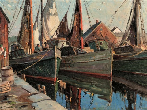 docked in rockport by aldro thompson hibbard