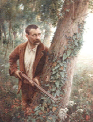 chasseur à laffût by andré chabellard