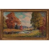 autumn landscape by camillo adriani