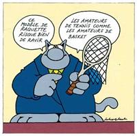modèle de raquette (from le soir du 27 janvier) by philippe geluck