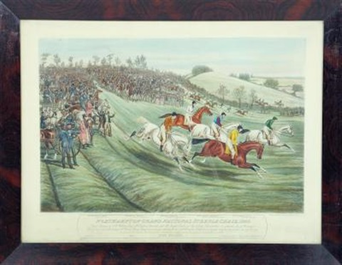 the northampton grand national steeple chase set of 4 by charles hunt