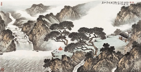 春和景明图 landscape by ma jun