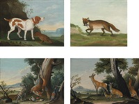 scenes of wild animals and the hunt (21 works) by johann elias ridinger