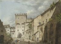 münchen - blick auf das kosttor by jean-baptiste metivier