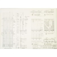 world trade center (north tower) elevations and sections at crown by minoru yamasaki