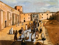 place animée, maroc by louis ancillon