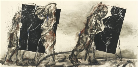 summer graffiti by william kentridge