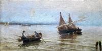 barcas en la playa de rota by josé lafita y blanco