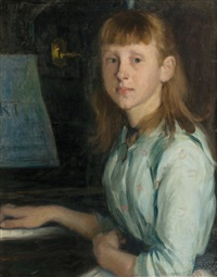 marie schumann at the piano by otto heinrich engel