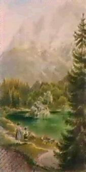 bayerischer gebirgssee by carl kinkelin