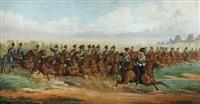 the royal horse artillery at full gallop by richard simkin