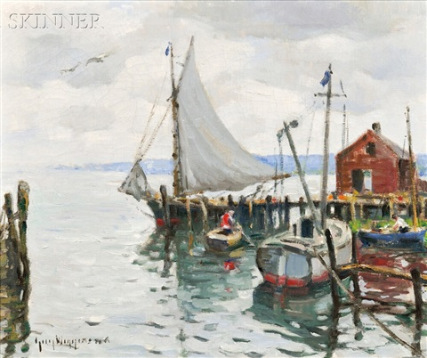 the friendship sloop and lifting skies by guy carleton wiggins