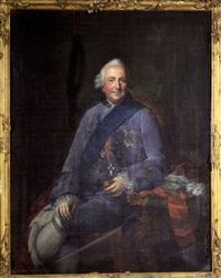 portrait of ferdinand, duke of brunswick-wolfenbüttel by anna rosina lisiewski