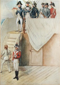 admiral lord nelson on hms victory by richard simkin