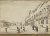 george's square, valletta (+ 2 other similar; 3 works) by john st. vincent, 3rd baron de saumarez