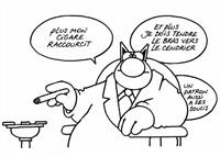 un patron a ses soucis (frfom le quatrieme chat) by philippe geluck