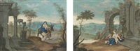 religious scenes including a painted poem (9 works) by johann elias ridinger