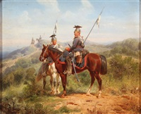 calvary troops (pair) by christian sells
