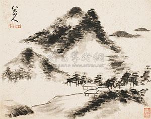 云山图 by bada shanren